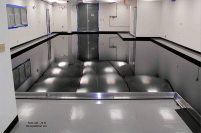 Precision Epoxy Aerospace Test Bed Air Bearing Floor - University of Southern California
